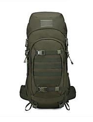 Недорогие -50 L Рюкзаки - Дожденепроницаемый, Пригодно для носки, Воздухопроницаемость На открытом воздухе Пешеходный туризм, Походы, Горные лыжи 100 г / м2 полиэфирный стреч-трикотаж