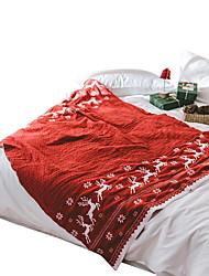 Недорогие -Супер мягкий, Активный краситель Однотонный / Геометрический принт Акриловые волокна одеяла