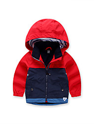 cheap -Kids Boys' Black & Red Color Block Long Sleeve Jacket & Coat