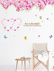 Недорогие -Декоративные наклейки на стены - Наклейки для животных Цветочные мотивы / ботанический Гостиная / Спальня / Ванная комната