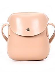 abordables -Femme Sacs PU Mobile Bag Phone Boutons Noir / Rose Claire / Marron