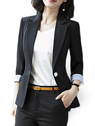cheap -Women's Basic Blazer-Solid Colored