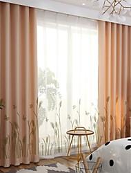 お買い得  -既成品 遮光 カーテンドレープ 2パネル 2*(W140cm×L259cm) ベージュ / ベッドルーム