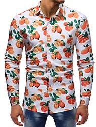 Недорогие -Муж. С принтом Рубашка Классический Фрукты