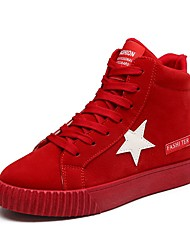Недорогие -Жен. Обувь Искусственная кожа Осень Удобная обувь Кеды На плоской подошве Круглый носок Серый / Красный / Розовый