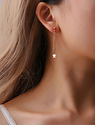 cheap -Women's Tassel Drop Earrings - Creative, Star Casual / Sporty, Korean, Fashion Gold / Silver For Gift / Daily / Evening Party
