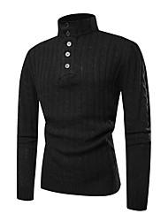 Недорогие -Муж. Классический Пуловер - Однотонный