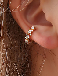 cheap -Women's Cubic Zirconia Stylish Clip Earrings / Ear Cuff - Creative Korean, Fashion, Cute Gold / Silver For Party / Evening / Daily / Street