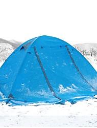 baratos -2 Pessoas Ao ar livre Tenda A Prova de Vento Á Prova-de-Chuva Respirabilidade Um Quarto Dupla Camada >3000 mm Barraca de acampamento para Campismo / Escursão / Espeleologismo Liga de Alúminio 7005