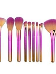 preiswerte -9pcs Makeup Bürsten Professional Make-up Nylon Pinsel vollständige Bedeckung Plastik