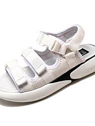 お買い得  -女性用 靴 コットン 夏 コンフォートシューズ サンダル フラットヒール オープントゥ ホワイト / ブラック / ピンク