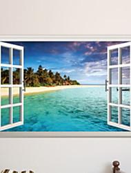 Недорогие -Декоративные наклейки на стены - Простые наклейки Пейзаж / Море Спальня / В помещении