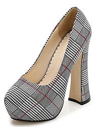 abordables -Femme Chaussures Coton Printemps & Automne Nouveauté Chaussures à Talons Talon Bottier Bout rond Argent / Rouge / Vert / Soirée & Evénement