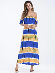 cheap -Women's Basic Sheath Dress - Floral / Geometric
