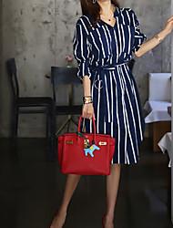 cheap -Women's Basic Sheath Dress - Striped Split