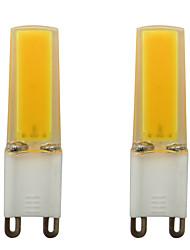 Недорогие -3w g9 led spotlight 0930 cob smd силиконовая лампа домашнее освещение люстра переменного тока 220v теплый / холодный белый (2 шт)