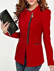 preiswerte -Damen - Solide Grundlegend Jacke Patchwork