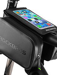 Недорогие -ROCKBROS Бардачок на раму 6 дюймовый Водонепроницаемость Велоспорт для Другие же размера телефоны Черный