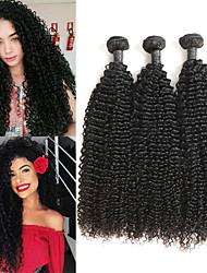 tanie -3 zestawy Włosy peruwiańskie Kinky Curl 8A Włosy naturalne Doczepy z naturalnych włosów 8-24 in Ludzkie włosy wyplata Najwyższa jakość Nowości Gorąca wyprzedaż Ludzkich włosów rozszerzeniach Damskie