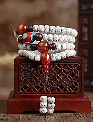 cheap -Women's Classic / Beads Strand Bracelet / Wrap Bracelet - Buddha Asian, Vintage, Ethnic Bracelet White For Formal / Festival