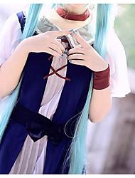 billiga -Inspirerad av Vocaloid Hatsune Miku Animé Cosplay-kostymer cosplay Suits Enkel Kjol / Skärp / Huvudbonad Till Dam / Chiffong