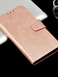 Недорогие -Кейс для Назначение Huawei Mate 10 pro / Mate 10 lite Кошелек / Бумажник для карт / Флип Чехол Однотонный Твердый Кожа PU для Mate 10 pro / Mate 10 lite