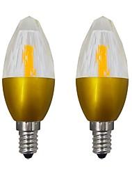 Недорогие -5.5w e14 светодиодная лампа накаливания 1 smd 2508 початка и 19 светодиодов 2835 110v 220v ac85 - 265v теплый / холодный белый (2 шт.)