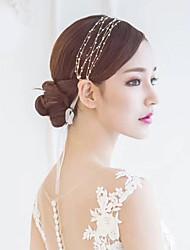 baratos -Miçanga Headbands com Cadarço 1 Peça Casamento / Ocasião Especial Capacete