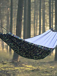 cheap -Camping Hammock Outdoor Portable, Lightweight, Casual / Daily Canvas, Nylon, Cotton for Camping / Camping / Hiking / Caving / Outdoor - 2 person Army Green