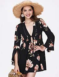 cheap -Women's Cute Swing Dress - Solid Colored