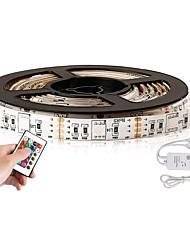 baratos -YouOKLight 2m Faixas de Luzes LED Flexíveis 60 LEDs 5050 SMD 1 controlador remoto de 24Keys / 1 cabos DC RGB Impermeável / USB / Decorativa 5 V 1conjunto
