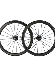 baratos -NEASTY 700CC Conjuntos de Rodas Ciclismo 25 mm Bicicleta de Estrada Carbono Com Tubo 20-24 Raios 50 mm