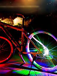 baratos -Luz de Decoração / luzes da roda LED Luzes de Bicicleta Ciclismo Impermeável, Legal, Múltiplos Modos Bateria Recarregável 50 lm Mudança Ciclismo