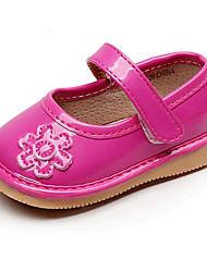 Недорогие -Девочки Обувь Полиуретан Лето Обувь для малышей На плокой подошве На липучках для Дети Белый / Пурпурный / Розовый