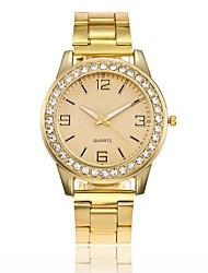 Недорогие -Для пары Нарядные часы Наручные часы Кварцевый Серебристый металл / Золотистый / Розовое золото Новый дизайн Повседневные часы Имитация Алмазный Аналоговый Мода Элегантный стиль -  / Один год