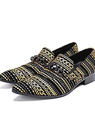 Недорогие -Муж. Обувь для новинок Наппа Leather Наступила зима Английский Туфли на шнуровке Дышащий Желтый / Свадьба / Для вечеринки / ужина / Для вечеринки / ужина / Печать Оксфорд