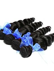 Недорогие -4 Связки Индийские волосы Вьетнамские волосы Свободные волны 8A Натуральные волосы Необработанные натуральные волосы Подарки Человека ткет Волосы Сувениры для чаепития 8-28 дюймовый Естественный цвет