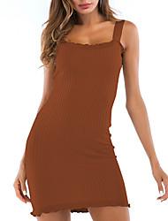 Недорогие -Жен. Обтягивающие Облегающий силуэт Платье На бретелях Мини