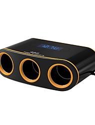 Недорогие -автомобильное зарядное устройство 3 розетки прикуривателя 12v 2 порта USB адаптер питания dc розетка