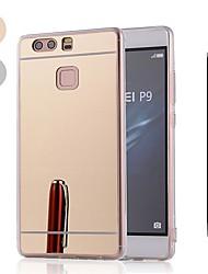 Недорогие -Кейс для Назначение Huawei Huawei P20 / Huawei P20 Pro / Huawei P20 lite Защита от удара / Покрытие / Зеркальная поверхность Кейс на заднюю панель Однотонный Мягкий пластик / Металл / P10 Plus