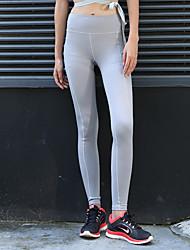economico -Per donna Sexy Pantaloni da yoga - Nero, Grigio scuro, Grigio chiaro Gli sport Tinta unica Calze / Collant / Cosciali Corsa, Fitness, Danza Abbigliamento sportivo Traspirante, Morbido, Sostegno e