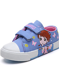cheap -Girls' Shoes Canvas Fall & Winter Comfort Sneakers Walking Shoes Buckle for Kids Dark Blue / Pink / Light Blue