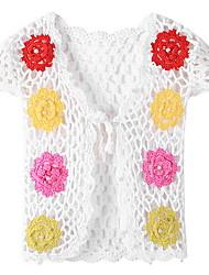 Недорогие -Дети (1-4 лет) Девочки Геометрический принт С короткими рукавами Свитер / кардиган