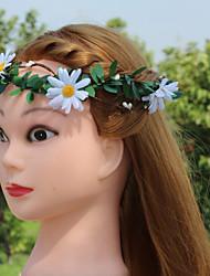 baratos -Poliéster / Viscose Decoração de Cabelo com Floral 1pç Casamento / Ao ar livre Capacete