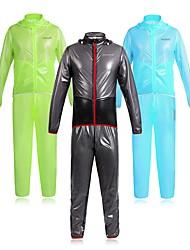 economico -WOSAWE Per uomo Giacca con pantaloni da ciclismo Bicicletta Set di vestiti Ompermeabile, Strisce riflettenti Tinta unita Nero / Verde / Blu Abbigliamento ciclismo