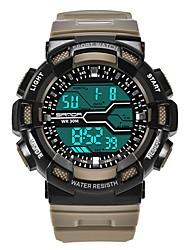 Недорогие -SANDA Муж. Спортивные часы электронные часы Японский Цифровой 30 m Защита от влаги Календарь Хронометр Plastic Группа Цифровой Роскошь Мода Черный - Синий Хаки Темно-зеленый / Фосфоресцирующий