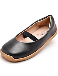 cheap -Girls' Shoes Faux Leather Spring &  Fall Comfort Flats Gore for Kids Black / Yellow / Brown