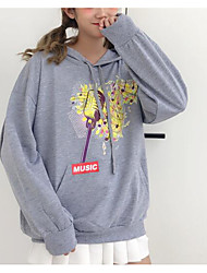 cheap -women's long sleeve cotton hoodie - solid colored hooded