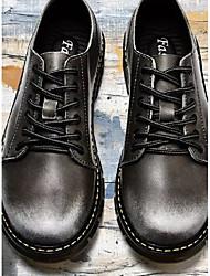 """Недорогие -Муж. Комфортная обувь Наппа Leather Весна & осень На каждый день / Стиль """"Школьная форма"""" Кеды Черный / Серый / Коричневый"""