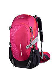 Недорогие -30 L Рюкзаки - Воздухопроницаемость На открытом воздухе Пешеходный туризм, Горные лыжи 75 гр / м2 полиэфирная эластичная ткань, Кожа Черный, Лиловый, Пурпурный